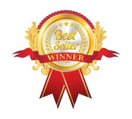 ribbin: Best Seller Golden Badge