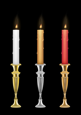 holders: Candle holders with burning candle