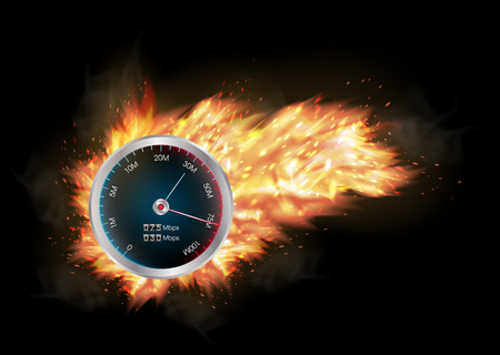speed: internet speed test meter