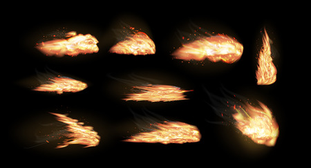 fire vector on a black background