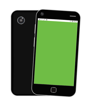 blank screen: blank green screen smartphone