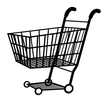 shopping cart icon: shopping cart icon vector Illustration