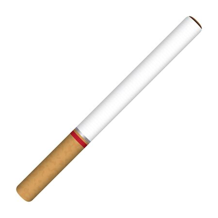 narcotic: cigarette on a white background Illustration