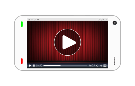 streaming: smartphone playing a streaming video