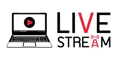 stream: laptop live stream