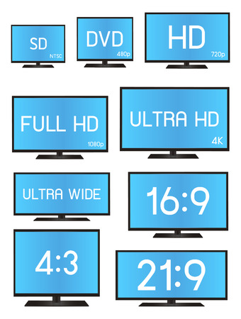 16 9 display: Standard Television Resolution Size