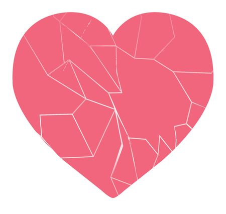 a broken heart vector isolated