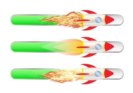 toy rocket with Progress bar Illustration