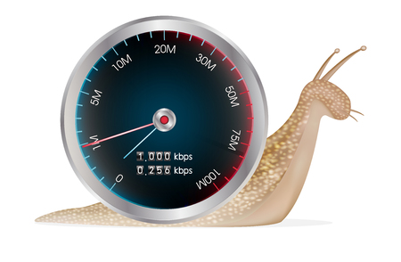 internet speed meter with  snail