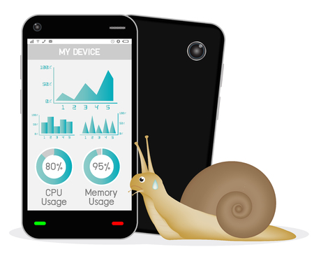 vision repair: slow smartphone with snail