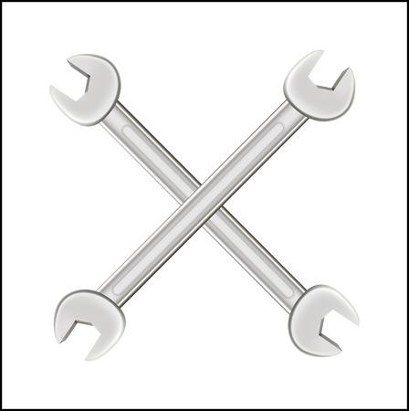 steel: cross steel wrench Illustration