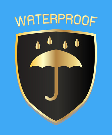 waterproof: waterproof shield  vector Illustration