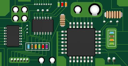 electronic circuit board vector