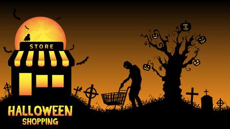 halloween store open in graveyard