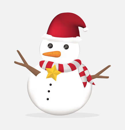 snowman vector: cute christmas snowman vector