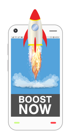 boost: smartphone with boost up application