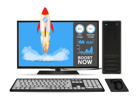 boost: desktop computer with boost up application