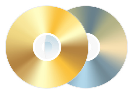 golden cd dvd disc Vectores