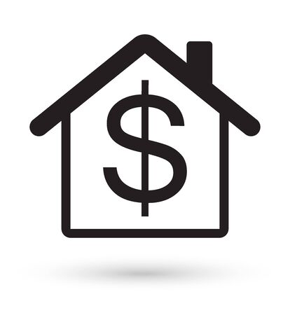 dollar sign icon: house with dollar sign icon
