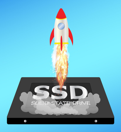 boost: solid state drive or ssd with a speed boost rocket