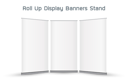 display stand: real 3d roll up display banners stand