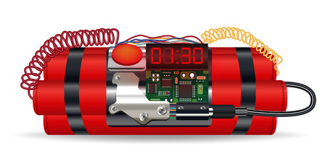 fire wire: red dynamite pack with electric time bomb