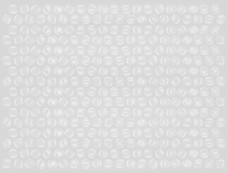 Real plastic bubble wrap background vector
