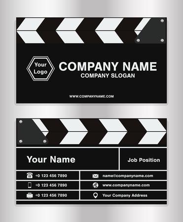 eenvoudig klapperbord thema bedrijfsnaam kaart sjabloon voor film directeur