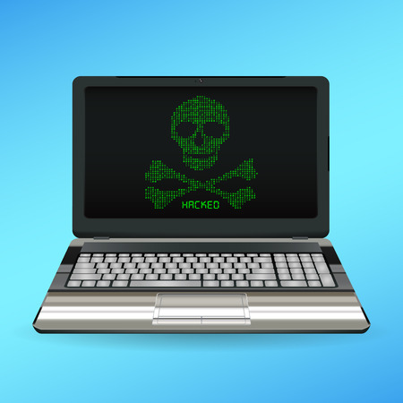 stop piracy: Skull and bone danger icon on desktop