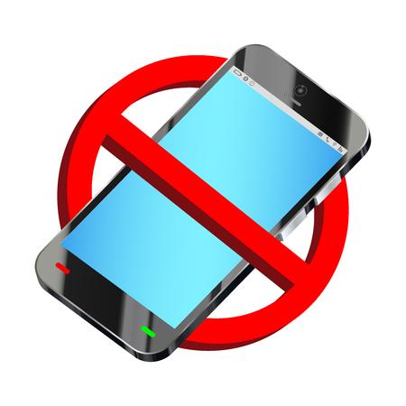 スマート フォン禁止符号ベクトルを使用しないでください。
