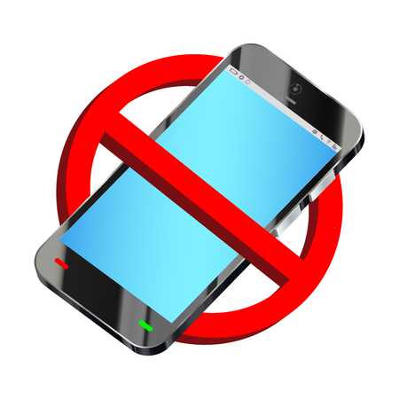 do not use smartphone prohibition sign vector Imagens - 81799357