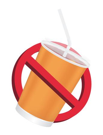 Verbod geen drinkbord op een witte achtergrond
