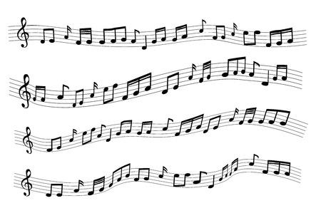 Drijvende voorbeeld willekeurige muzieknota komt niet overeen met een liedje