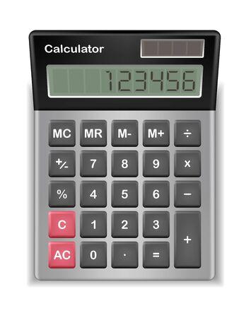 mathematics: real calculator with sample digital number