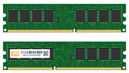 real random access memory or RAM computer Illustration