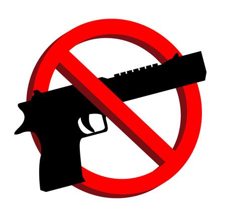 gun control: No guns allowed prohibition signs vector
