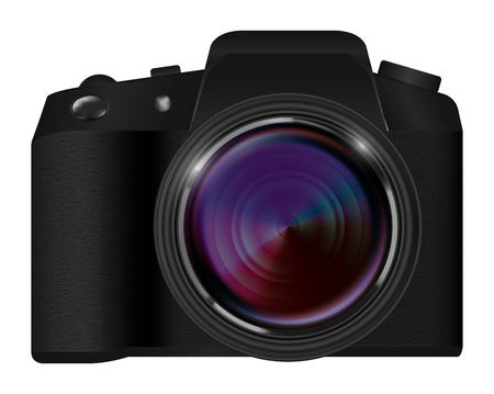 Realistic SLR camera illustration.