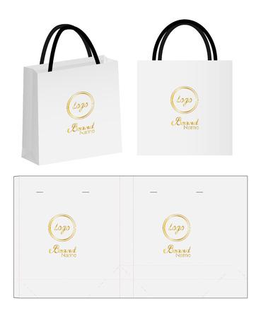 sac en papier sac d & # 39 ; emballage et sac 3d mockup