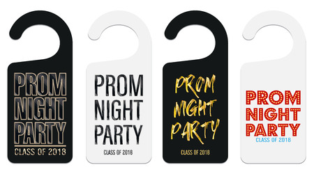 Prom night party room door hanging template  イラスト・ベクター素材