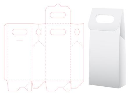 paper bag die cut mock up template Vector illustration.