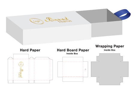 Box packaging die cut template design. 3d mock-up Vector illustration.  イラスト・ベクター素材