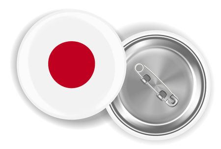 White brooch pin with red dot