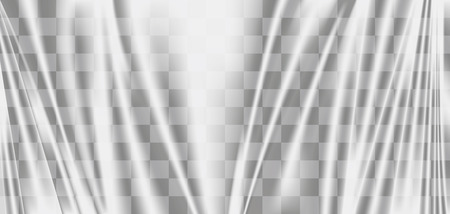A transparent plastic warp background texture vector Illustration