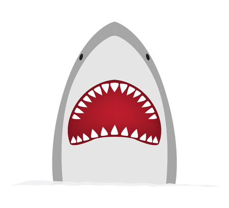 A big shark on a white isolated background