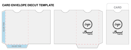 Key card envelope die-cut template mock up vector
