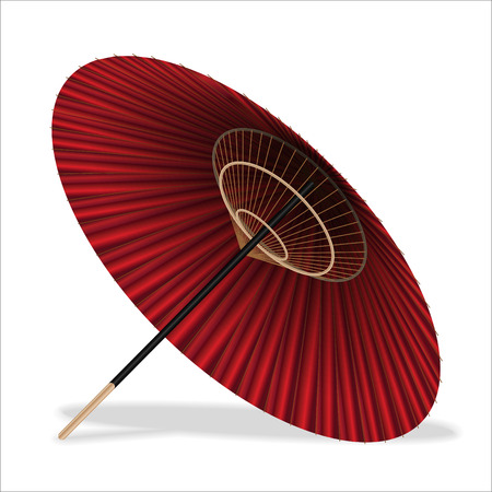 Japanese style Umbrella on a white background Illustration
