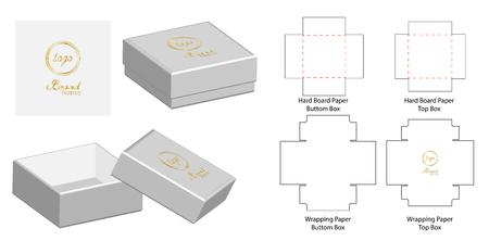 Box packaging die cut template design. 3d mock-up Vector illustration.  イラスト・ベクター素材
