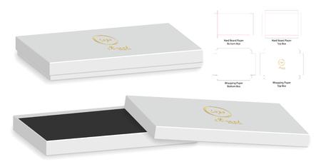 Box packaging die cut template design in 3D mock-up. Stock Vector - 99273210