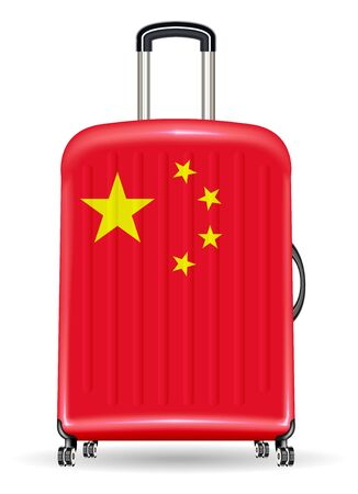 china flag on a luggage travel bag
