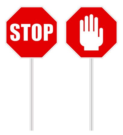Stop sign signal on a white background